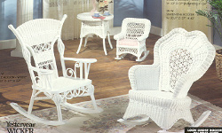 Victorian rocker collection available in white and brown wash