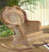 serpentine rocker available in white and brown wash